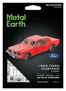 Metal Earth Ford Mustang 1965 Coupe - czerwony